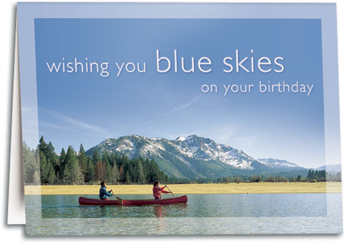 Nature and Scenic Photograph Birthday Cards – Mountain Birthday Cards