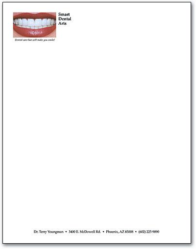 Dental Designs on Professional Letterhead | SmartPractice Dental