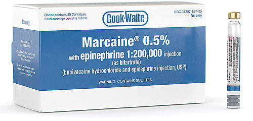 Cook-Waite Marcaine HCI 5% with Epinephrine Anesthetic